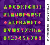 kids alphabet font. geometric... | Shutterstock .eps vector #1049194625