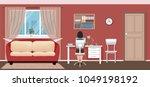 business woman employee sitting ... | Shutterstock .eps vector #1049198192