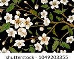 Spring  Floral Vintage Seamles...