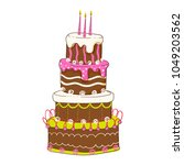 birthday cake vector collection | Shutterstock .eps vector #1049203562