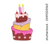 birthday cake vector collection | Shutterstock .eps vector #1049203565