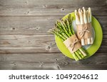bunches of fresh green and... | Shutterstock . vector #1049204612