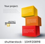 vector illustration of 3d boxes | Shutterstock .eps vector #104920898