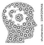 intellect gears mosaic of gears.... | Shutterstock . vector #1049209646