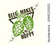hop emblem design with triangle ... | Shutterstock .eps vector #1049215322