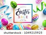 easter day sale banner... | Shutterstock .eps vector #1049215925