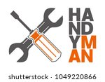 handyman with wrench and...   Shutterstock .eps vector #1049220866