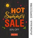 abstract summer time vector... | Shutterstock .eps vector #1049221586