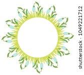 beautiful easter wreath....   Shutterstock .eps vector #1049221712