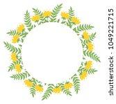 beautiful easter wreath....   Shutterstock .eps vector #1049221715