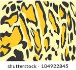 creative clouded leopard skin... | Shutterstock . vector #104922845