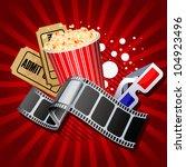 illustration of  movie theme... | Shutterstock . vector #104923496