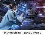 experienced specialist....   Shutterstock . vector #1049249852