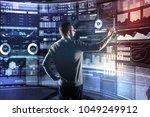 responsible programmer. calm...   Shutterstock . vector #1049249912