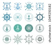 set of sea and nautical... | Shutterstock .eps vector #1049250182