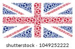english state flag mosaic... | Shutterstock .eps vector #1049252222