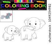 vector illustration of elephant ... | Shutterstock .eps vector #1049254982
