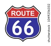 us route 66 sign  shield sign...   Shutterstock .eps vector #1049256332