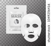 realistic 3d white facial... | Shutterstock .eps vector #1049256416