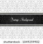 vintage black and white... | Shutterstock .eps vector #1049259902