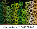 in a textile shop  there are... | Shutterstock . vector #1049260946