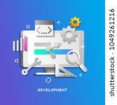 development concept for web... | Shutterstock .eps vector #1049261216