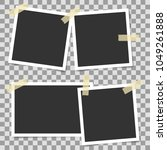photo frames with adhesive tape ... | Shutterstock .eps vector #1049261888