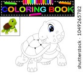 vector illustration of turtle...   Shutterstock .eps vector #1049265782