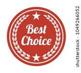 best choice label on white... | Shutterstock .eps vector #1049266052