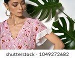 sexy girl is posing in a studio ... | Shutterstock . vector #1049272682