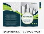 vector business brochure ... | Shutterstock .eps vector #1049277935