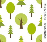pattern with green forest | Shutterstock .eps vector #1049278412