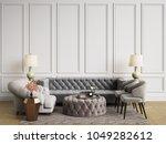 classic interior in pastel... | Shutterstock . vector #1049282612