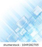 blue light tech background | Shutterstock .eps vector #1049282705