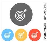 target icon. set of white icons ...