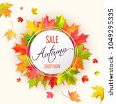 autumn fall sale card with red  ...   Shutterstock .eps vector #1049295335