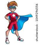 full length illustration of a... | Shutterstock .eps vector #1049296556