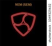 red neon nem  xem ... | Shutterstock .eps vector #1049325632