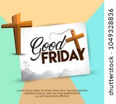 good friday illustration... | Shutterstock .eps vector #1049328836