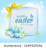illustration of easter greeting ... | Shutterstock . vector #1049329346