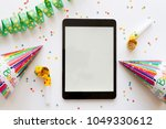 party time concept | Shutterstock . vector #1049330612