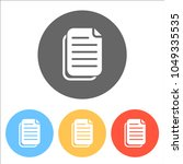 document simple icon. set of... | Shutterstock .eps vector #1049335535