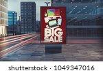 3d rendering of billboard... | Shutterstock . vector #1049347016