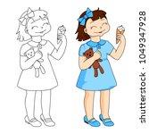 Cute Cartoon Girl Character...
