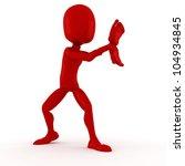 3d man super hero fighter | Shutterstock . vector #104934845