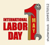 poster for international labor... | Shutterstock .eps vector #1049370512