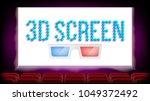screen 3d movie cinema vector.... | Shutterstock .eps vector #1049372492