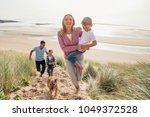 high angle view of family... | Shutterstock . vector #1049372528