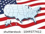 usa map vector | Shutterstock .eps vector #1049377412