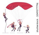 secret agent woman  lady spy of ... | Shutterstock .eps vector #1049377796